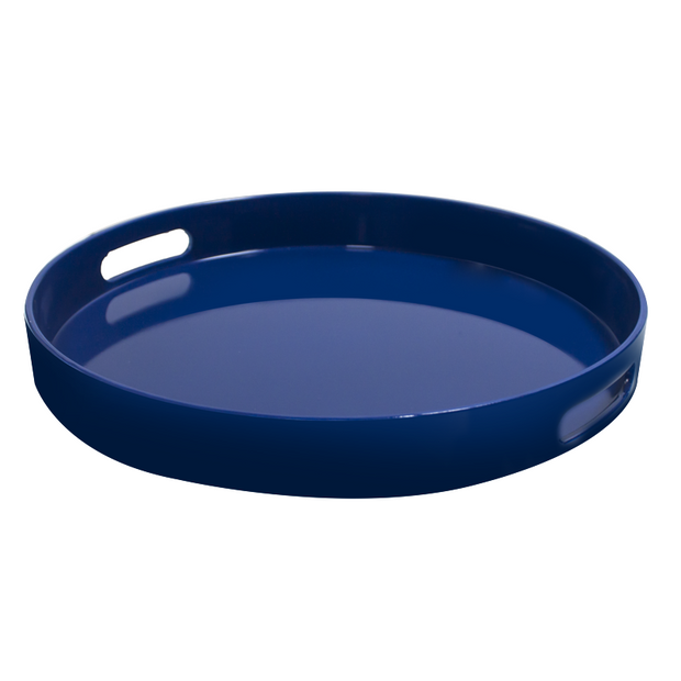 Deep serving tray Blue 33cm