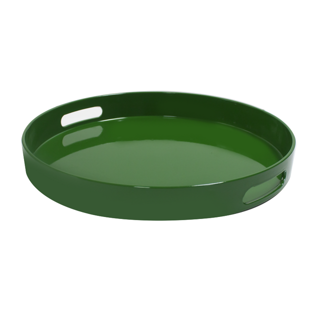 Deep serving tray green 37.5cm