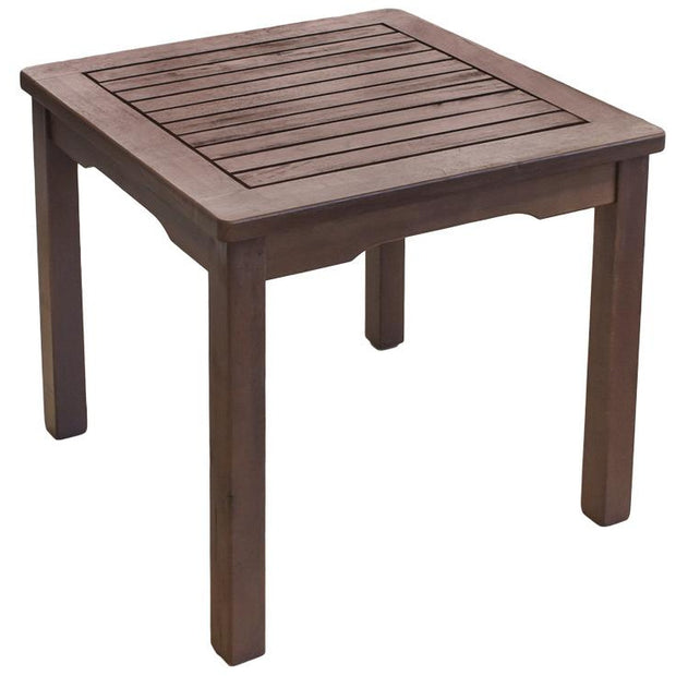 Wooden outdoor side table for sun bed 45cm