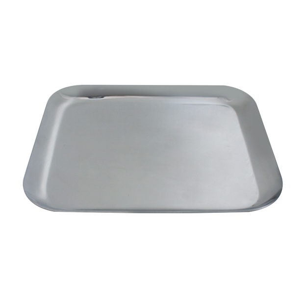 Square stainless steel serving tray 25cm