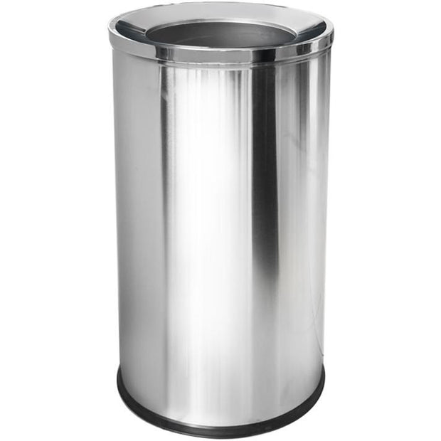 Round metal trash can 70 litres