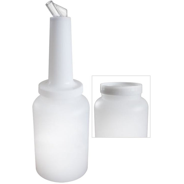 Polypropylene juice/syrup bottle with pourer 2 litres
