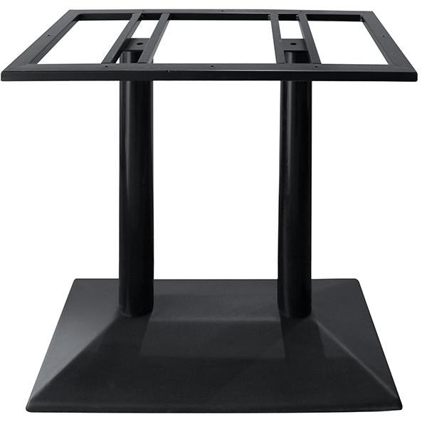 Metal stand for rectangular table black 73cm