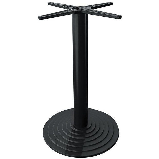 Metal table stand with square/round table black 43cm