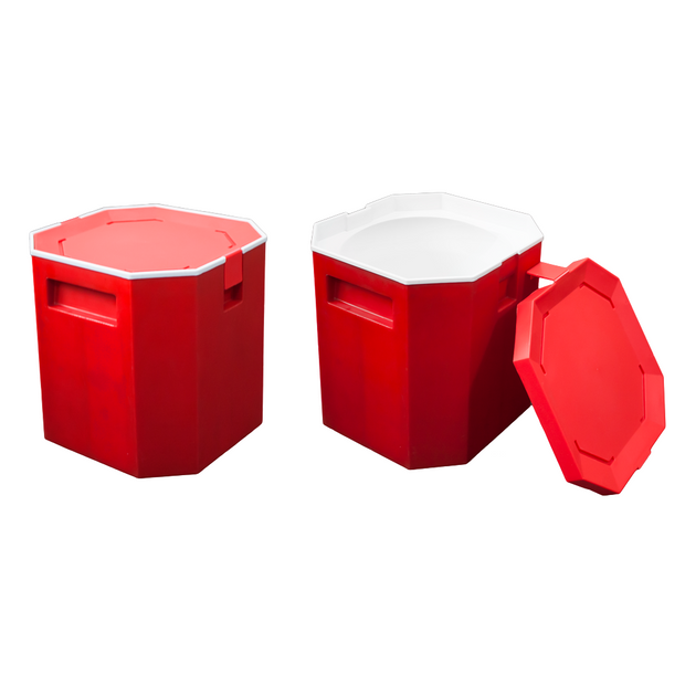 Insulated ice container red 13 litres
