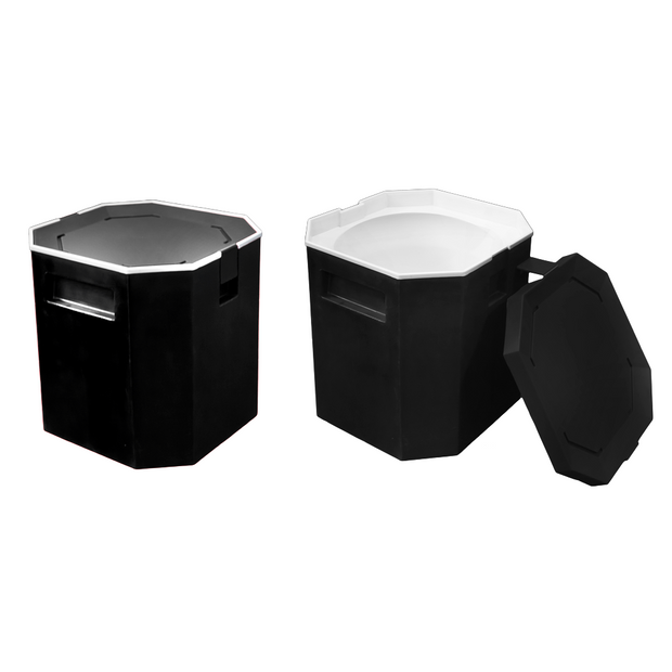 Insulated ice container black 13 litres