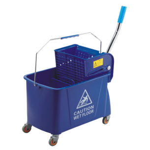 Single mop trolley with wringer blue 20 litres