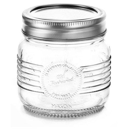 "Glass jar with lid ""Old fashioned"""