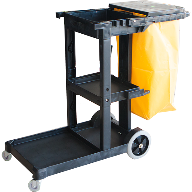 Janitors cart for cleaning equipment 121cm