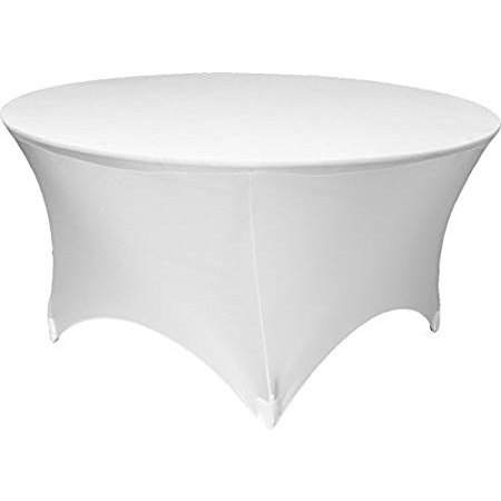 White elastic cover for catering table 180cm