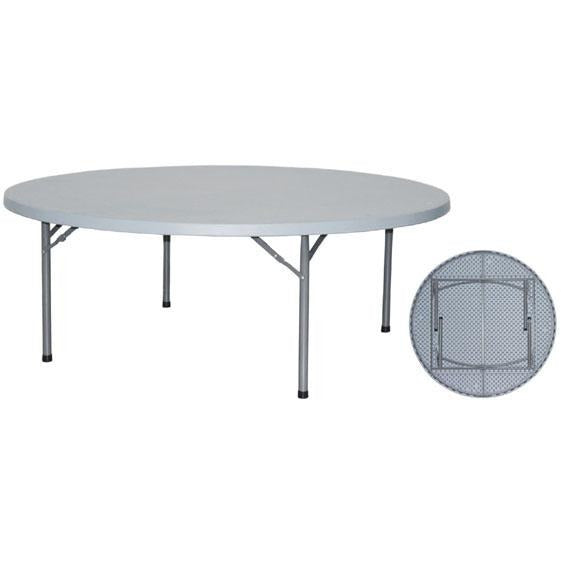 Round folding catering table