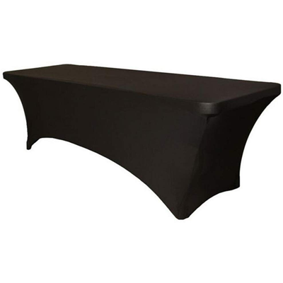Black elastic cover for cataring table 244cm