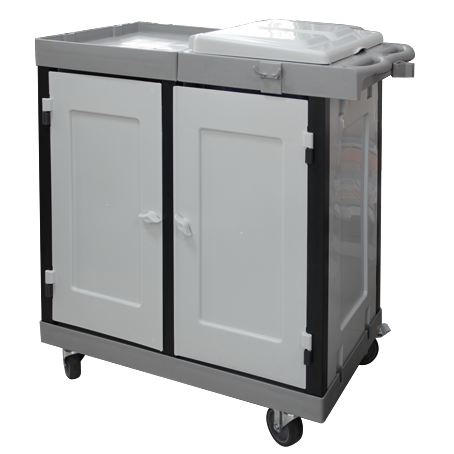 Hunter janitor trolley grey