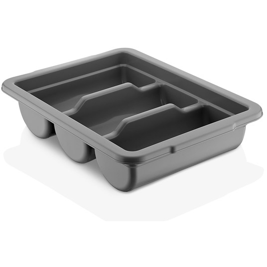 polypropylene three section cutlery container