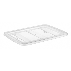 Lid for polypropylene three section cutlery container