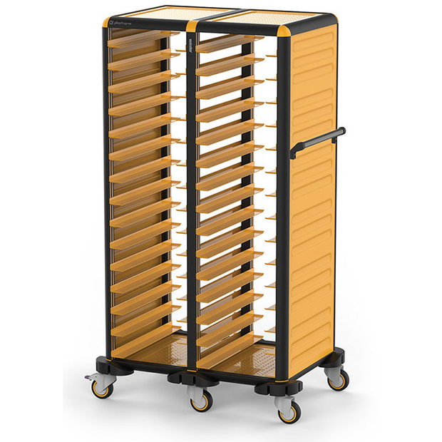 Trolley with 2x15 tray racks for 37x53cm tray