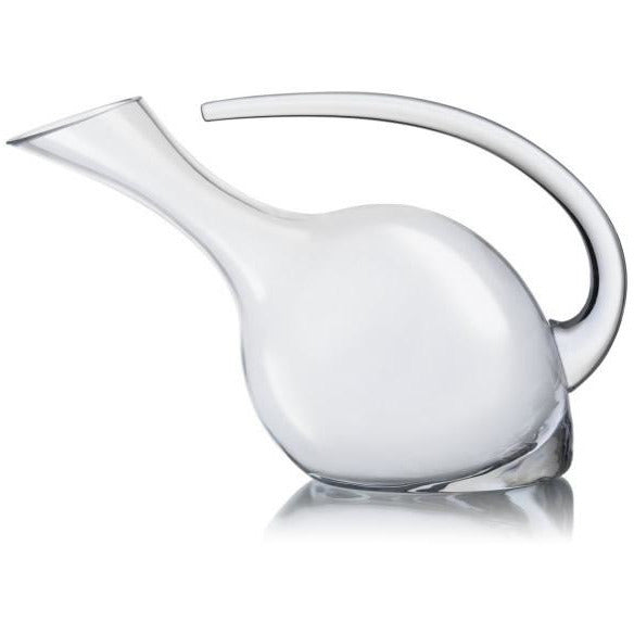 Tilted glass decanter 1.25 litres