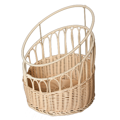 Round waterproof bread basket for baguettes 33cm