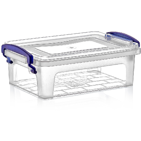 Rectangular food storage box with lid 1.25 litres