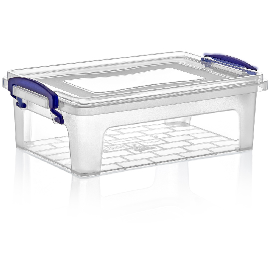 Rectangular food storage box with lid 2 litres