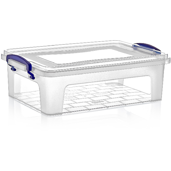 Rectangular food storage box with lid 3.75 litres