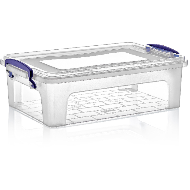 Rectangular food storage box with lid 6 litres
