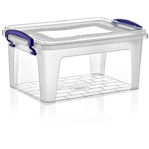 Rectangular deep storage box with lid 3 litres