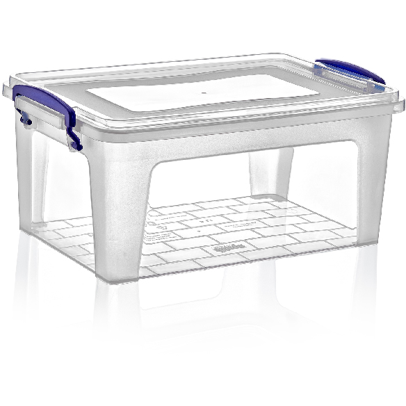 Rectangular deep storage box with lid 9 litres