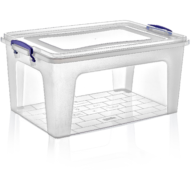 Rectangular storage box with lid 15 litres