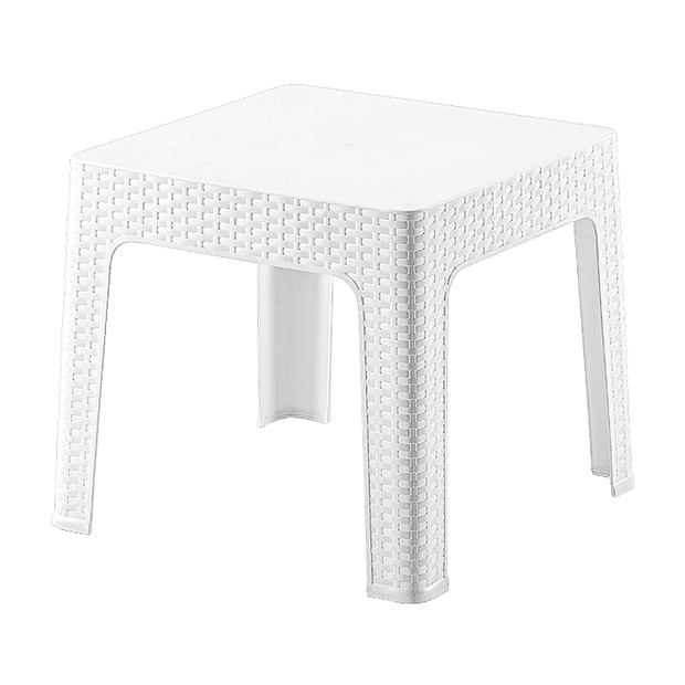 Square coffee sun bed table white 44cm