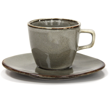 HORECANO Antique grey Tea cup with saucer 220ml