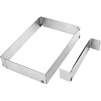 Rectangular adjustable baking mould 34-54cm