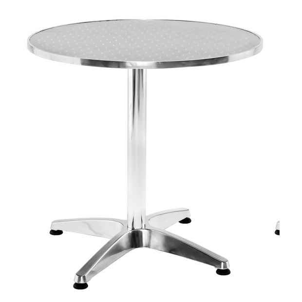 Round aluminium table 60cm
