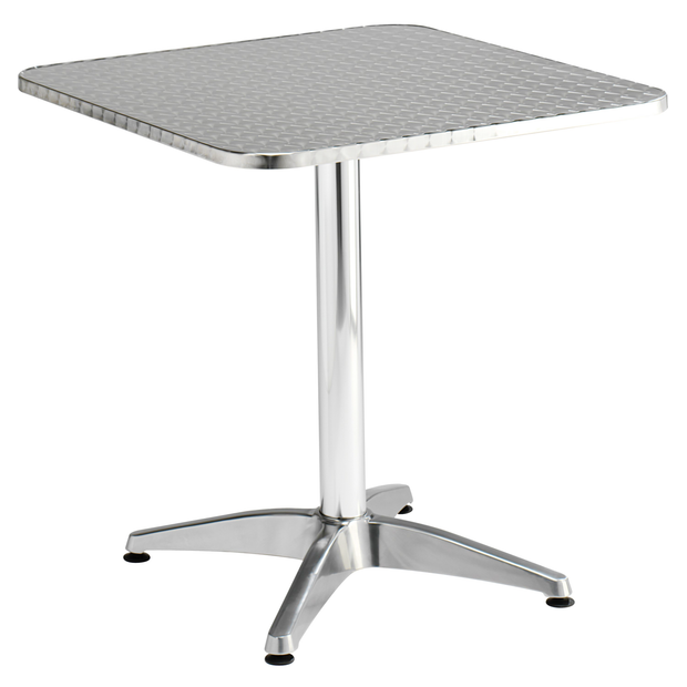 Square aluminium table 70cm
