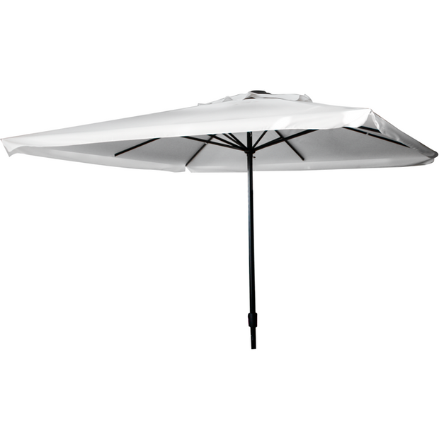 Square market umbrella white 3m