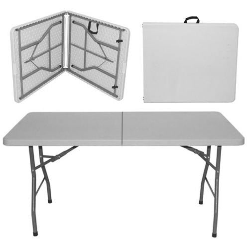 Rectangular folding catering table 180x76cm