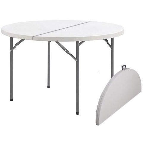 Folding round catering table 122cm