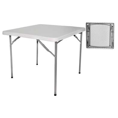 Square folding catering table 86cm