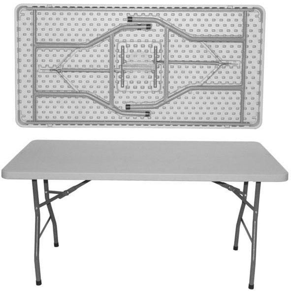 Rectangular folding catering table 152cm