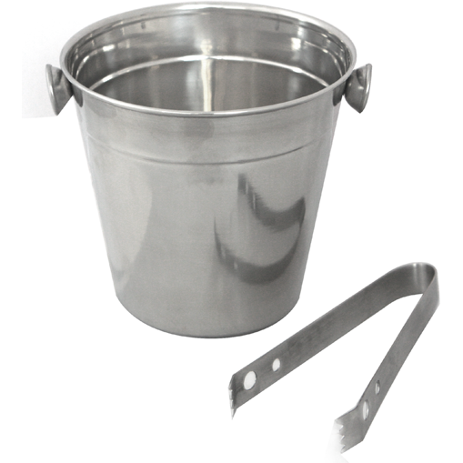 Ice bucket with ice tongs 12cm