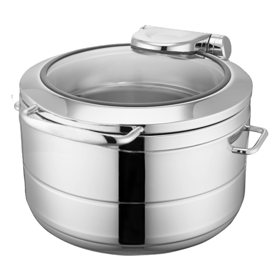 Round chafing dish with induction 11 litres