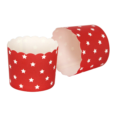 "Set of 50 round muffin cups ""Stars"""
