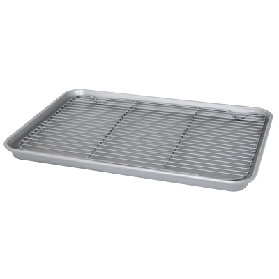 Rectangular baking tray with removable cooling rack 44.5cm