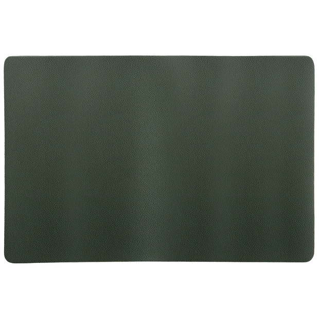 Olive green faux leather placemat 45cm