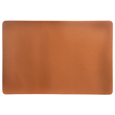 Brown faux leather placemat 45cm