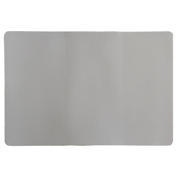 Grey faux leather placemat 45cm