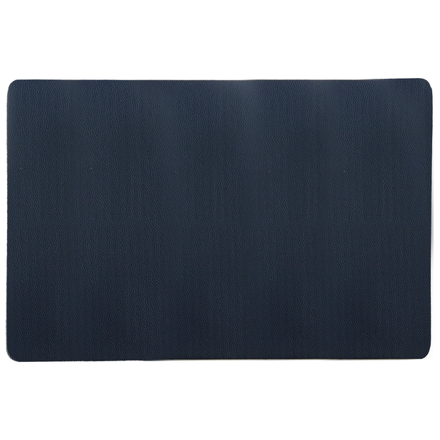Navy blue faux leather placemat 45cm