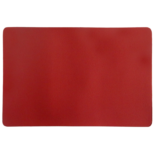 Red faux leather placemat 45cm