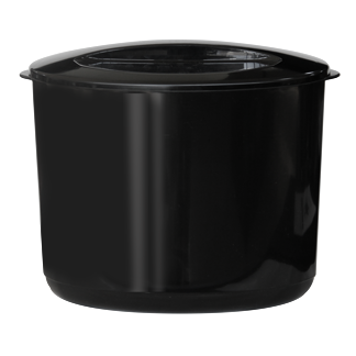 Double wall insulated acrylic ice bucket with lid black 10 litres