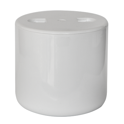 Double wall insulated acrylic ice bucket with lid white 700ml